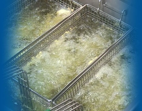 Non-caustic Alconox is gentle on the fryers and safe for the people cleaning them